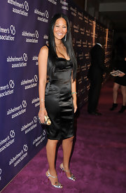 Kimora looks stunning in a black corset dress at the Alzheimer's benefit.