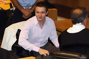 During the trial, Raffaele Sollecito wore a button down shirt with no tie.