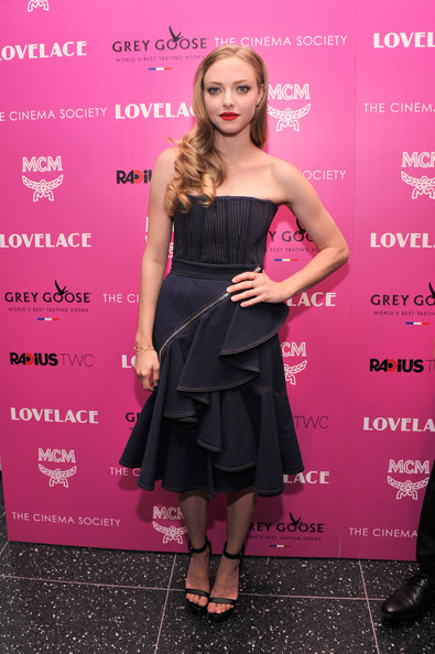 Amanda Seyfried Denim Dress