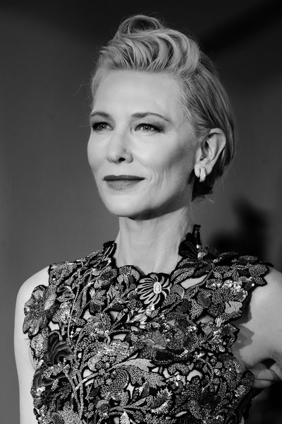More Pics of Cate Blanchett Fitted Blouse (2 of 66) - Cate Blanchett Lookbook - StyleBistro [editors note,image,movie,hair,face,hairstyle,eyebrow,lip,beauty,blond,fashion,chin,black-and-white,cate blanchett,amants red carpet,hair,red carpet,hairstyle,hair,77th venice film festival,hair,photograph,bangs,black and white,long hair,photo shoot,layered hair,human hair color,portrait photography,portrait -m-]