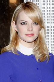 There was a subtle wave in Emma's side-swept hair atop the Empire State Building.