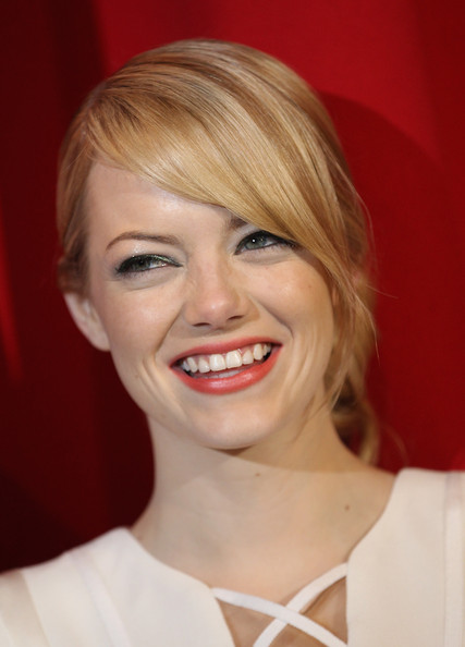 More Pics of Emma Stone Peep Toe Pumps (1 of 36) - Emma Stone Lookbook - StyleBistro