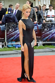 Lauren attended the 'Spider-Man' UK premiere in a floor-length gown with an edgy thigh-high split.