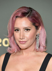 Ashley Tisdale looked adorable with her purple-dyed flippy 'do at the Amazon Prime Video Golden Globes after-party.