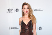 Amber Heard Beaded Dress