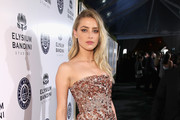 Amber Heard Strapless Dress