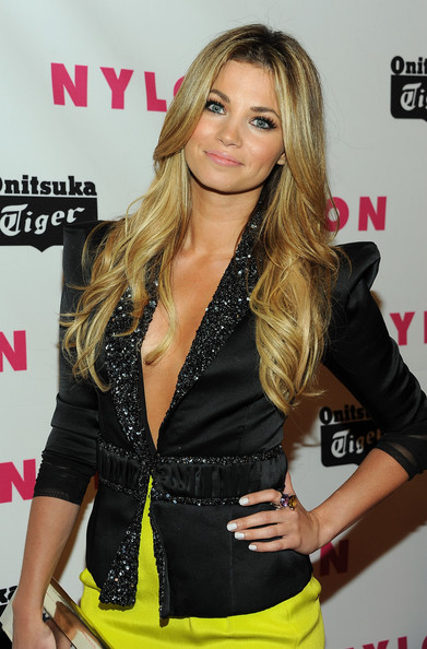 Amber Lancaster Cocktail Ring [hair,clothing,blond,hairstyle,brown hair,long hair,layered hair,eyelash,model,smile,arrivals,amber lancaster,bardot,hollywood,california,nylon magazine,may young hollywood issue celebration]