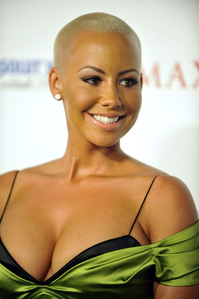 Amber Rose Buzzcut [picture,hair,face,eyebrow,hairstyle,skin,beauty,shoulder,lip,blond,smile,arrivals,amber rose,california,los angeles,maxim hot 100,maxim hot 100 party]