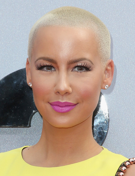 Amber Rose Buzzcut [face,eyebrow,human hair color,chin,head,forehead,beauty,cheek,lip,hairstyle,arrivals,amber rose,bet awards,nokia theatre l.a. live,los angeles,california]