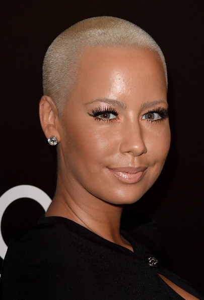 Amber Rose Buzzcut [hair,face,eyebrow,hairstyle,forehead,chin,head,beauty,lip,cheek,arrivals,amber rose,people magazine awards,the beverly hilton hotel,beverly hills,california]