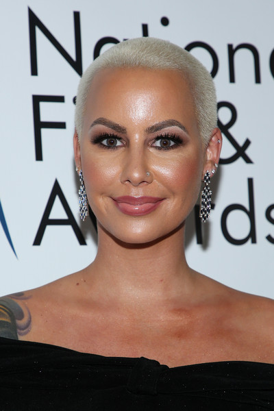 Amber Rose Buzzcut [national film and television awards ceremony,hair,face,eyebrow,hairstyle,lip,forehead,skin,chin,beauty,blond,amber rose,globe theatre,los angeles,california,national film and television awards ceremony]