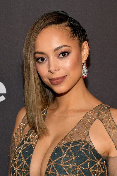 Amber Stevens West Long Partially Braided [hair,face,hairstyle,shoulder,eyebrow,blond,beauty,lip,chin,long hair,beverly hills,california,the beverly hilton hotel,red carpet,warner bros. 76th annual golden globe awards,warner bros. 76th annual golden globe awards post-party,instyle,amber stevens west]