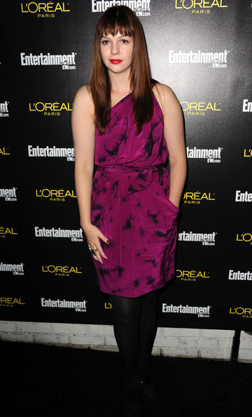 Amber Tamblyn One Shoulder Dress