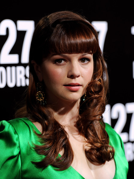 Amber Tamblyn Long Curls with Bangs
