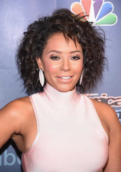 Melanie Brown rocked some serious '80s curls at the 'America's Got Talent' season 10 taping.