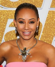 Melanie Brown sported a slick, gelled-back hairstyle at the 'America's Got Talent' season 13 live show.