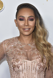 Melanie Brown glammed it up with these side-swept waves at the 'America's Got Talent' season 13 live show.
