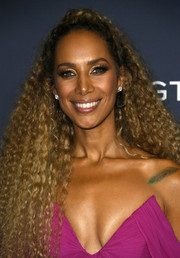 Leona Lewis wore her hair in half-up curls at the 'America's Got Talent' season 14 finale.