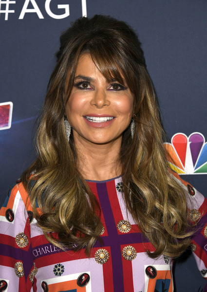 Paula Abdul was boho-glam with her half-up waves at the 'America's Got Talent' season 14 finale.