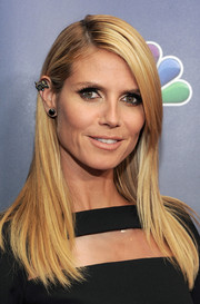 Heidi Klum looked flawless with her sleek straight layers at the 'America's Got Talent' season 9 post-show event.