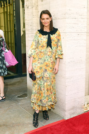 Katie Holmes was abloom in a floral frock by Maison Mayle at the 2019 American Ballet Theatre Spring Gala.