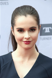 Vanessa Marano wore her hair slicked back into a tight ponytail during the AFI Life Achievement Award.