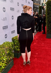 Bryce Dallas Howard's LBD at the AFI Life Achievement Award was very simple from the front, but the back looked totally fab with its cutout and ruffle detail!