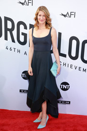Laura Dern brightened up her look with a pair of pastel-blue pumps by Calvin Klein.