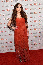 Alexa Ray Joel was all about hippie glamour in her Tamara Mellon fringed gown during the American Heart Association Go Red for Women event.