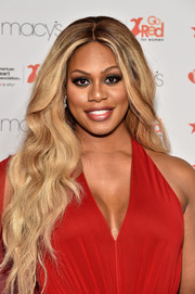 Laverne Cox wore a gorgeous wavy hairstyle to the American Heart Association Go Red for Women event.