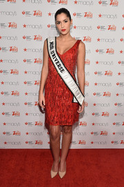 Paulina Vega went the vintage route in a fringed, beaded cocktail dress during the American Heart Association Go Red for Women event.