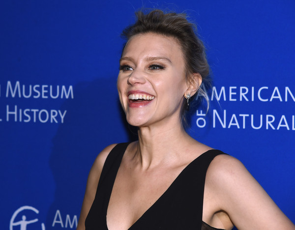 More Pics of Kate McKinnon Messy Updo (1 of 3) - Kate McKinnon Lookbook - StyleBistro [hair,face,facial expression,shoulder,hairstyle,skin,eyebrow,chin,beauty,smile,kate mckinnon,new york city,american museum of natural history,2017 museum gala]