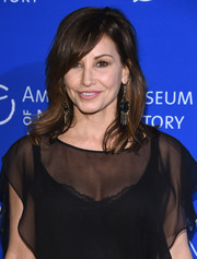 Gina Gershon wore her hair in feathery waves with side-swept bangs at the American Museum of Natural History's 2017 Museum Gala.