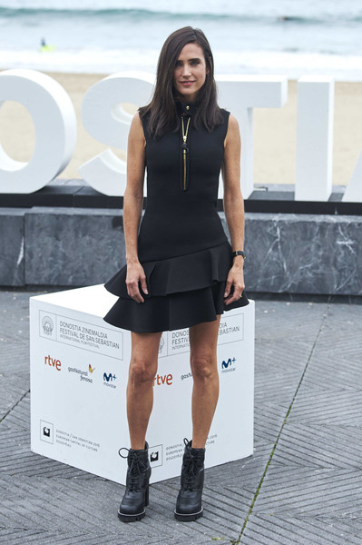 Jennifer Connelly went for a grunge-chic finish with a pair of Louis Vuitton combat boots.