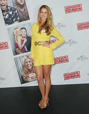 Scherri Lee Biggs wore this sunny yellow dress to the 'American Pie: Reunion' premiere.