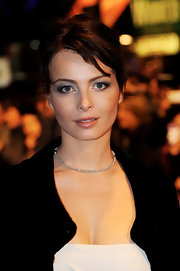 Violante Placido arrived at the premiere of 'The American' at the London Film Festival donning sultry smoky eyes.