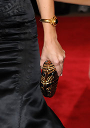 Kristen Davis showed off her darling gold and black clutch while hitting the red carpet at the MET Gala.