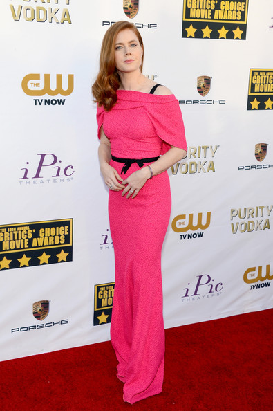 Amy Adams Off-the-Shoulder Dress