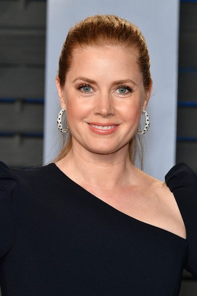 Amy Adams Ponytail [oscar party,vanity fair,hair,face,hairstyle,eyebrow,shoulder,blond,beauty,chin,lip,forehead,beverly hills,california,wallis annenberg center for the performing arts,radhika jones - arrivals,radhika jones,amy adams]