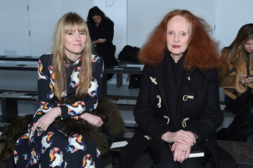Amy Astley Grace Coddington Front Row at Calvin Klein Collection