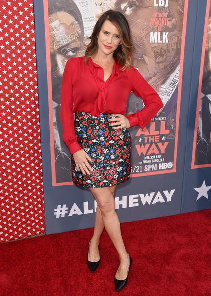 Amy Landecker Mini Skirt [all the way,all the way,clothing,red carpet,carpet,premiere,red,dress,cocktail dress,fashion,flooring,leg,amy landecker,hollywood city,hbo,red carpet,paramount studios,premiere,los angeles premiere]