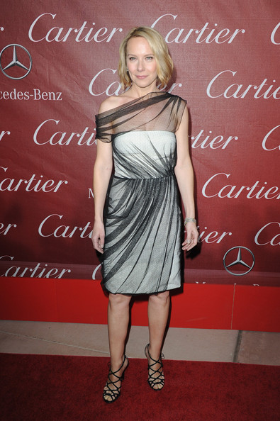 Amy Ryan Strappy Sandals [flooring,beauty,fashion model,lady,joint,shoulder,dress,cocktail dress,fashion,carpet,arrivals,amy ryan,palm springs convention centre,california,palm springs international film festival awards gala]
