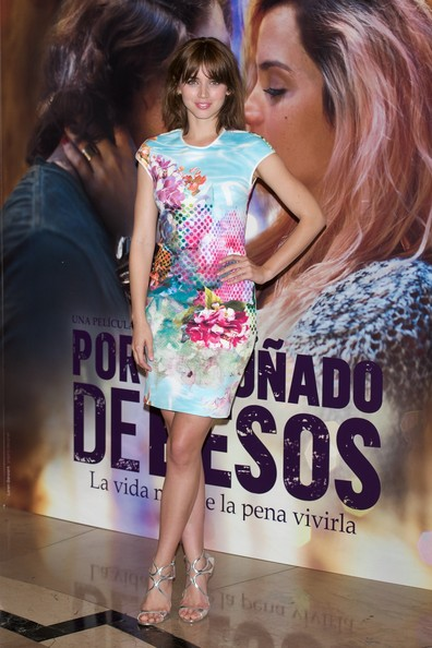 Ana de Armas Strappy Sandals [fashion,dress,shoulder,fashion design,cocktail dress,fashion model,brown hair,long hair,style,model,photocall,spanish actress ana de armas attends the por un punado de besos,punado de besos,madrid photocall,madrid,spain]