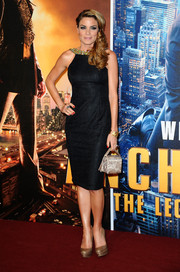 Charlotte Jackson looked downright elegant at the 'Anchorman 2' premiere in a little black dress with an embellished Grecian neckline.