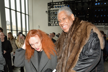 Andre Leon Talley Grace Coddington Front Row at the Calvin Klein Collection Show