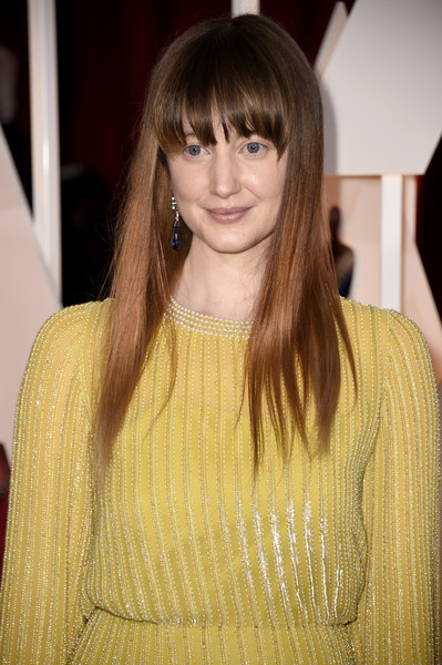 Andrea Riseborough Long Straight Cut with Bangs