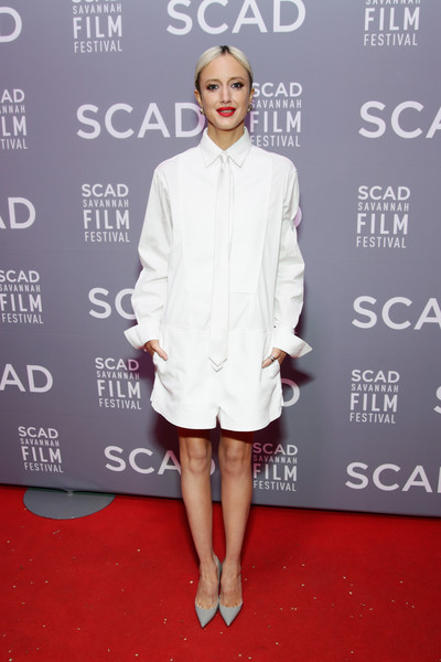 Andrea Riseborough Romper