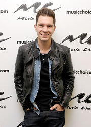 Andy Grammer opted for a rock 'n' roll classic with this leather jacket.