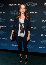 Sophia Bush showed off her long brunette curls while walking the red carpet in West Hollywood.