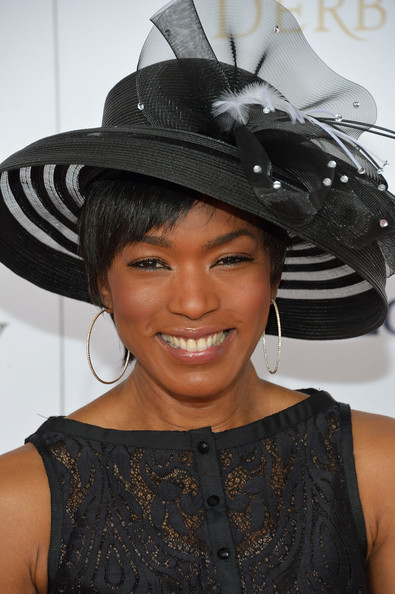 Angela Bassett Diamond Hoops
